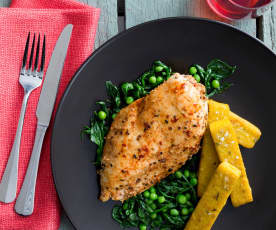Spice-rubbed chicken with maple glaze