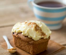 Spiced pumpkin mini loaves with cream cheese frosting