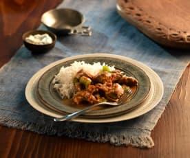 Curry z jagnięciny i papryki (Bhoona Gosht)
