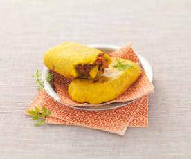 Gevulde Marokkaanse broodjes (Batbout)