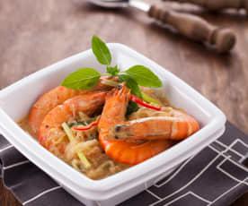 椰香咖哩鮮蝦粉絲