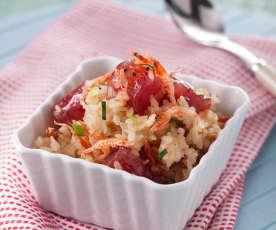 櫻花蝦臘味飯