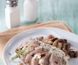 低溫豬肉佐松露洋芋泥培根菌菇
