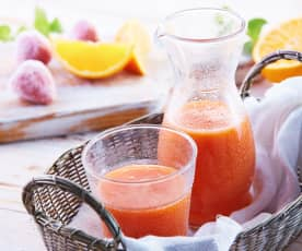 Mango, Orange and Strawberry Juice