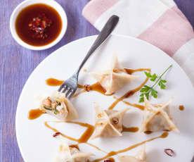 紫蘇蒸花餃