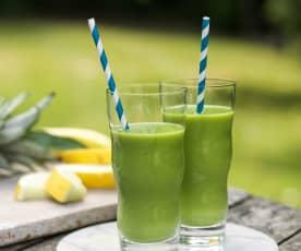 Zielone smoothie z melonem i szpinakiem