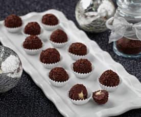 Čokoládové kuličky s nádivkou - nepečené