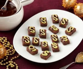 Peprmintové čokoládové bonbóny - nepečené