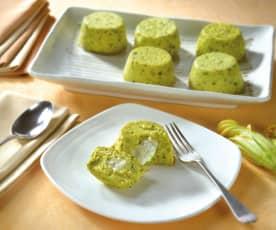 Tortino di zucchine con cuore filante di Gorgonzola