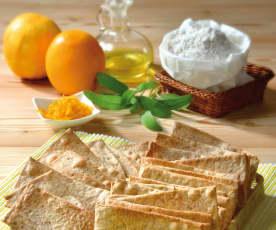 Crackers integrali arancia e salvia