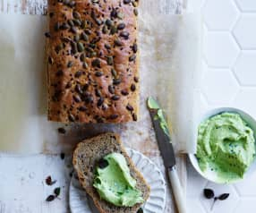 Avocado whip on seedy spelt bread (Post-natal)