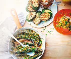 Sardines grillées à la gremolata