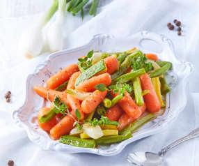 Vegetales glaseados