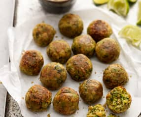 Broad Bean and Chickpea Falafels