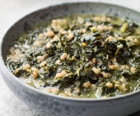 Spelt and Kale Soup - Zuppa di farro e cavolo nero
