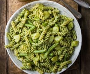 Fusilli with Pesto, Green Beans and Potato - Pasta alla genovese
