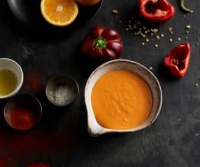 Molho holandês de pimento vermelho e paprika
