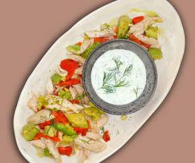 Grillhähnchen-Salat
