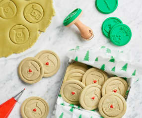 Matcha Stamp Cookies