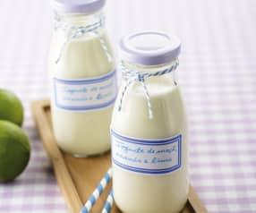 Drinkyoghurt met appel, ananas en limoen