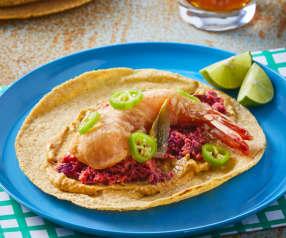 Tacos de camarón de la Viga