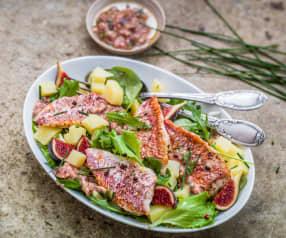 Salade de rouget aux figues