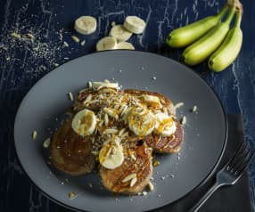 Dinkel-Buchweizen-Bananen-Pancakes