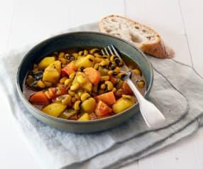 Ragoût de haricots œil noir aux légumes