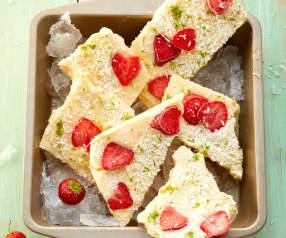 Frozen Erdbeer-Mango-Joghurt-Bars