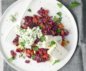 Kabis-Rüebli-Salat mit Feta