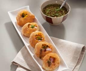 Pan frito indio (panipuri)