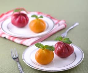 Słodkie bułeczki z nadzieniem z czarnego sezamu