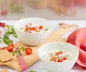 Soupe froide concombre-courgette