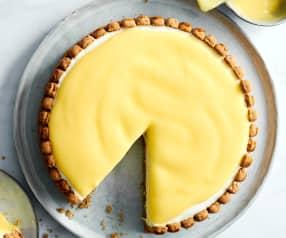 Lemon-Cheesecake mit Nuss-Crunch