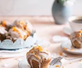 Babeczki z awokado z lukrem pomarańczowym