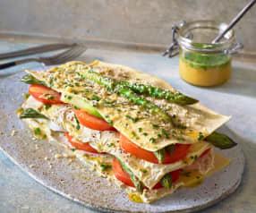 Spargel-Salat-Lasagne