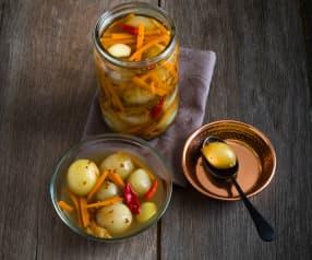 Lankijskie piklowane warzywa (Achcharu)