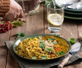 Dyniowe curry z soczewicą i kaszą jaglaną