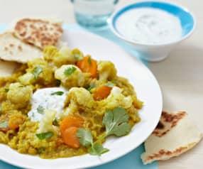Chou-fleur et lentilles au curry