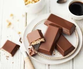 Tablette de chocolat au blé soufflé
