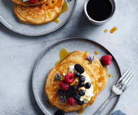 Better-for-you banana pancakes
