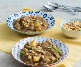 Beef and potato massaman curry
