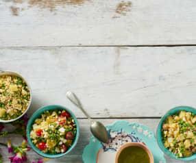 Três saladas para dois