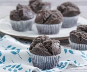Black Glutinous Rice Huat Kuih (Steamed Cupcakes)