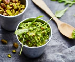 Pesto de roquette, pistache et safran