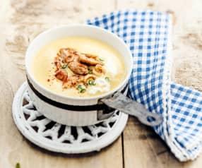Soupe crémeuse de maïs à la dinde