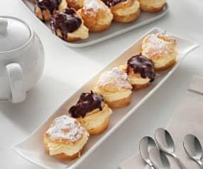 Pasta choux y crema pastelera (sin gluten)