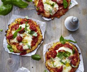 Blumenkohl-Käse-Pizzen