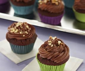 Cupcakes de chocolate y cacahuete