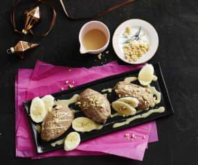 Mousse au chocolat mit Banane
